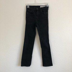 rag & bone Jeans - Rag & Bone High-Rise Ankle Cigarette Worn Black 23